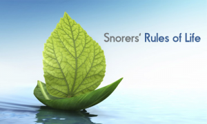 Snorers' Rules of Life
